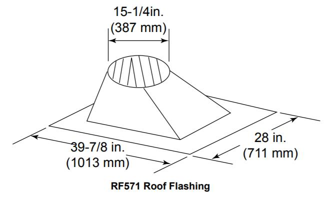 rf571 roof flashing 6  12 to 12  12 pitch majestic wood burning sl1100 series pipe