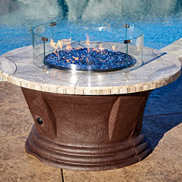 San Simeon Series Outdoor Gas Fire Pit Tables
