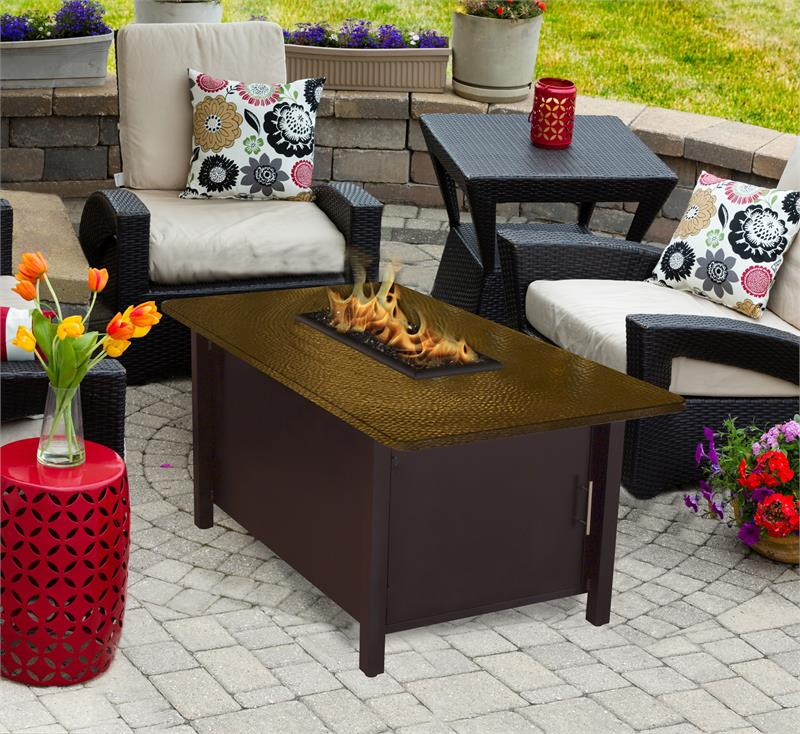 Outdoor Fire Pit Coffee Table Carmel Chat Height With