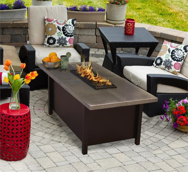 Outdoor Fire Pit Coffee Table Carmel Chat Height with ...