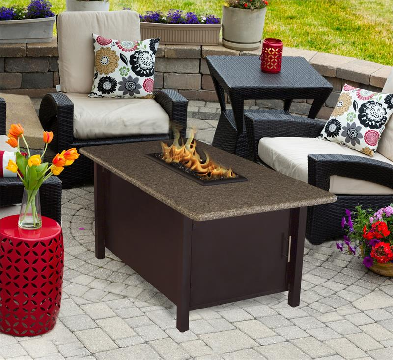 Pebble Stone Outdoor Coffee Table: Outdoor Fire Pit Coffee Table Carmel Chat Height With