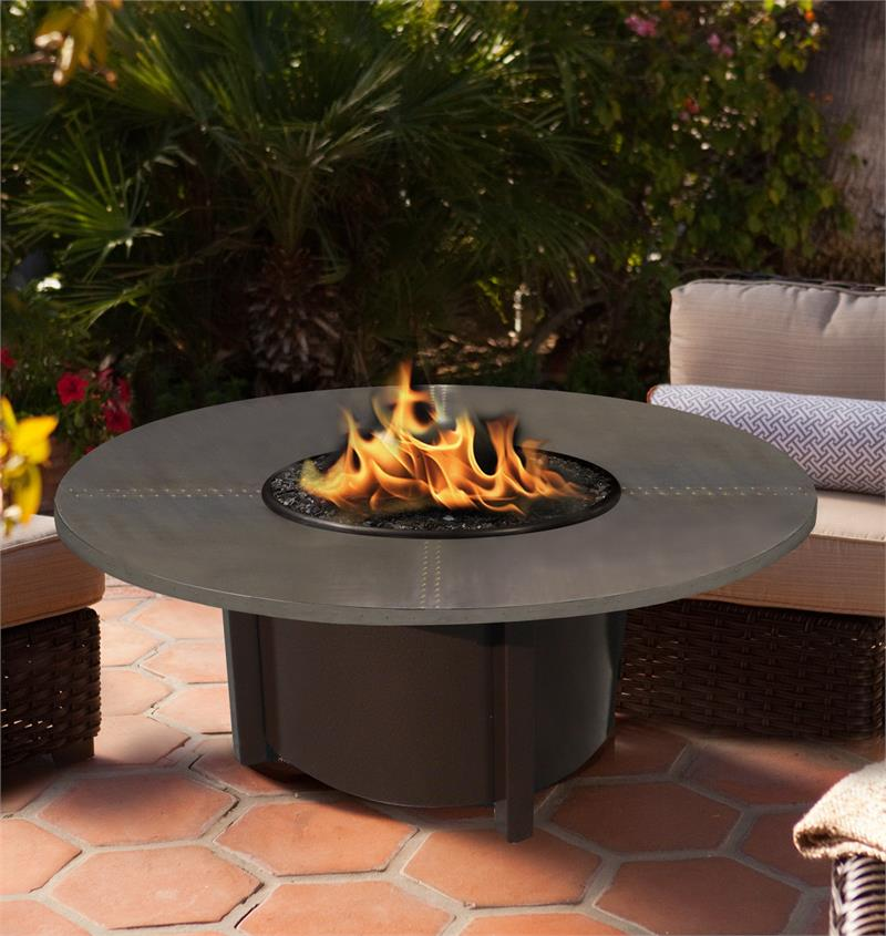 Fire Pit Table Outdoor Carmel Round Chat Height With