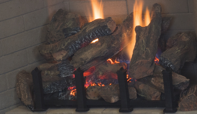 Direct Vent Complete Clean Face Gas Log Fireplace Superior 36 ...
