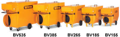 Wilms Indirect Military Tent Heater Lineup