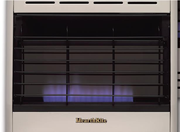 Hearthrite Vent Free 30 000 Btu Thermostat Blue Flame Heater