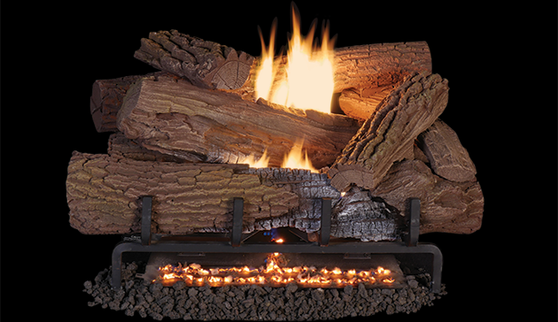 24 Quot Indoor Mossy Oak Concrete Gas Log Set Vent Free With