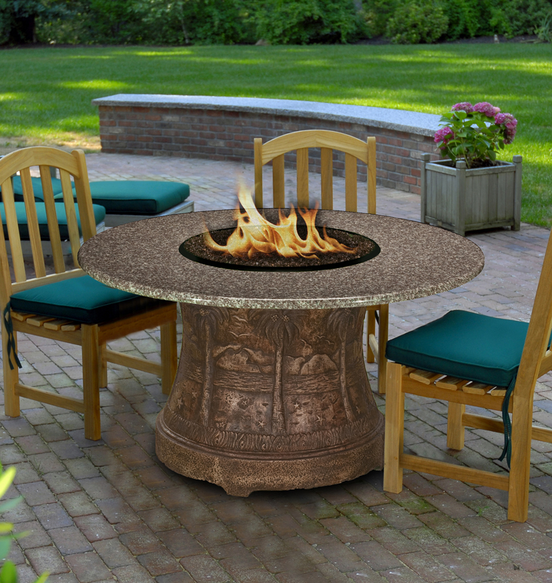 Fire Pit Table Palm Dining Height Multi Functional