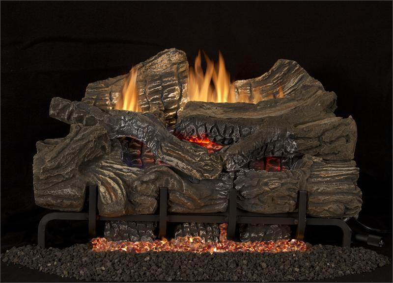 36 Quot Superior Smokey Mountain Oak Gas Logs With Glowing