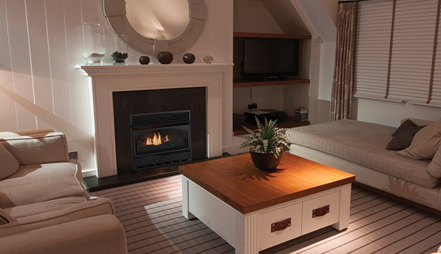 Vent Free Compact Classic Hearth Dual Burner Gas Fireplace by ...