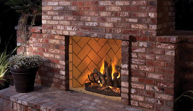 Outdoor Vent Free Gas Firebox Superior Signature Series 36 Inch