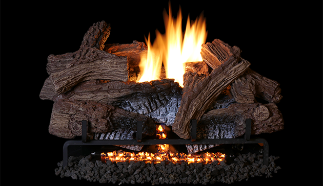 18 Quot Wild Timber Vent Free Concrete Gas Logs And Triple