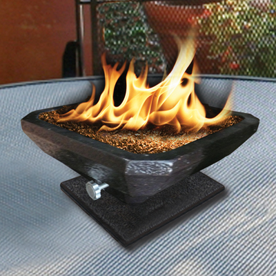 C Pri Square Table Top Gas Outdoor Fire Pit