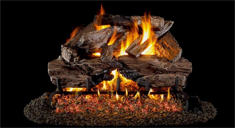 Chcrg46 24 Peterson Real Fyre Charred Cedar Vented Gas Log
