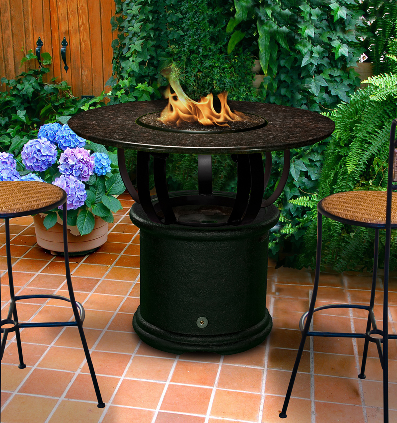 Del Mar Bar Height Multifunctional Gas Logs Fire Pit Table