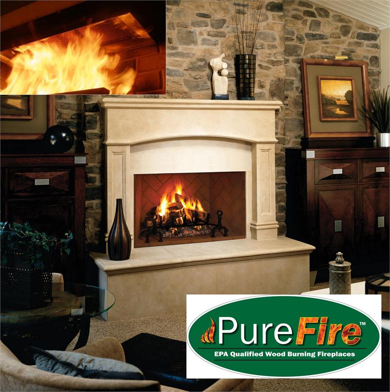 how to clean the inside of a wood burning fireplace