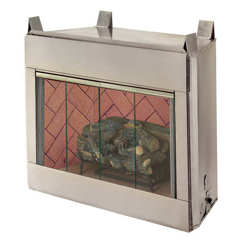 "Alpine/Superior Outdoor Stainless Steel Vent Free 36"" O36/VRE3036 Gas Fireplace Hearth Refractory Brick Liners. America is moving outdoors. And Superior"