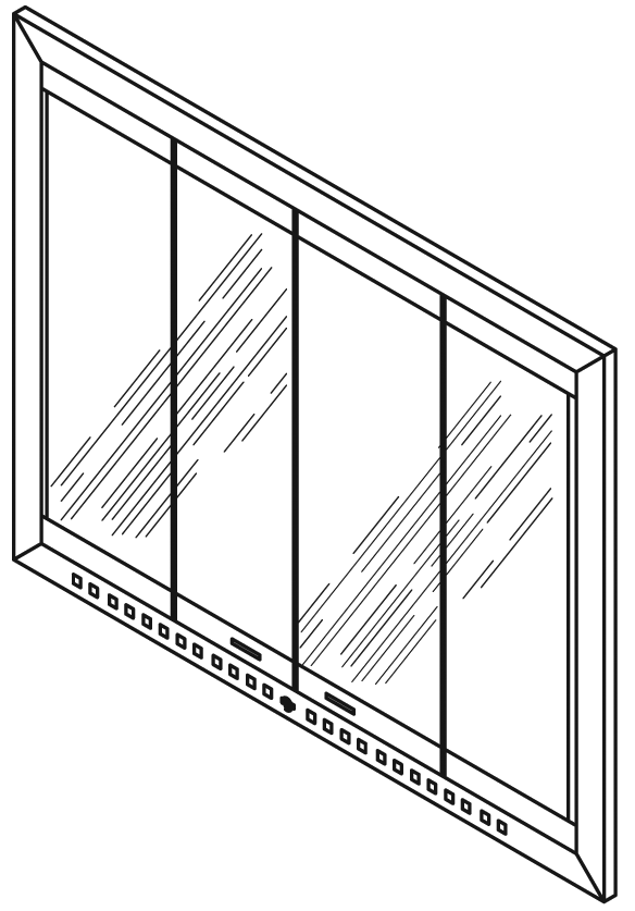 Bdm42 Bi Fold Glass Masonry Door And Frame Assembly For Indoor