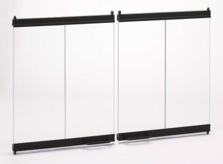 framebrushed doors concept bi doorsbrushed fold maximum brushed popular nickel fireplace trim modern black for