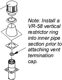 Vr 58 Direct Vent Galvanized Vertical Round Restrictor
