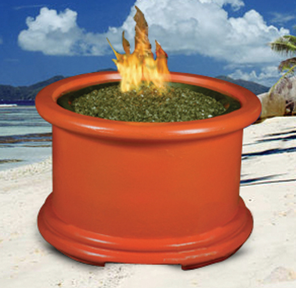 Island Chat Multifunctional Reflection Glass Fire Pit