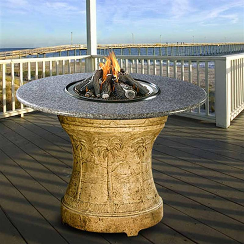 Palm Bar Height Multifunctional Gas Logs Fire Pit Table