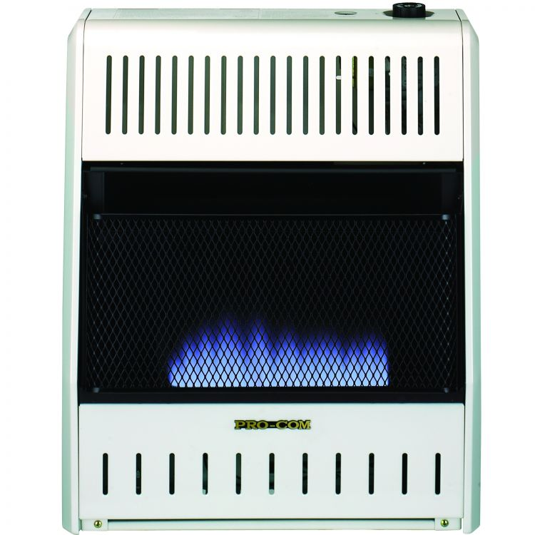 Gas Space Heaters With Blowers : Mnsd tbabb btu procom blue flame vent free dual