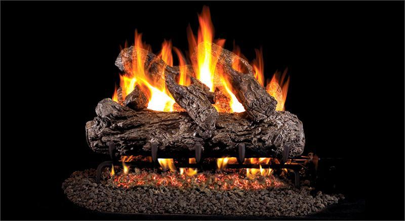 Hrg46 30 Peterson Real Fyre Rustic Oak Vented Gas Logs Set