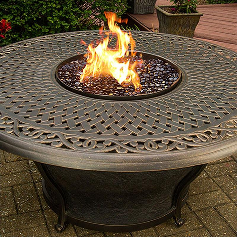 Sentinel Outdoor Fire Pit Table With Round Porcelain Top