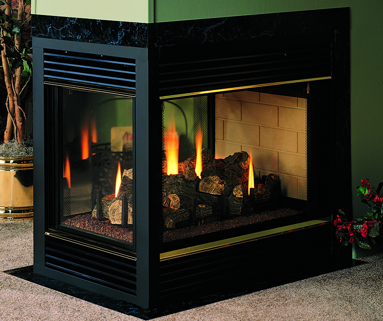Vdvf36tp peninsula 36 direct vent fireplace vantage hearth for Vantage hearth