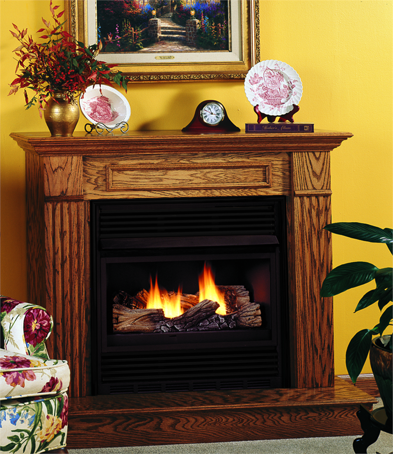 Vent Free Compact Classic Hearth Single Burner Gas Fireplace by Superior VMH26 VCM3026. The VCM3026 Series Fireplace come complete with the firebox