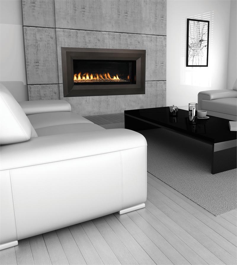 Linear Contemporary Luxury Series Vent Free Fireplace 43
