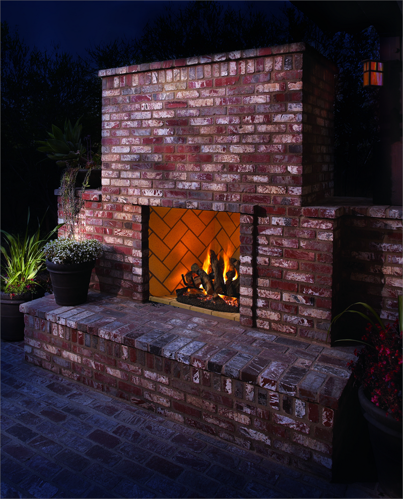 outdoor vent free fireplace vqm42 vantage hearth outdoor fireplace