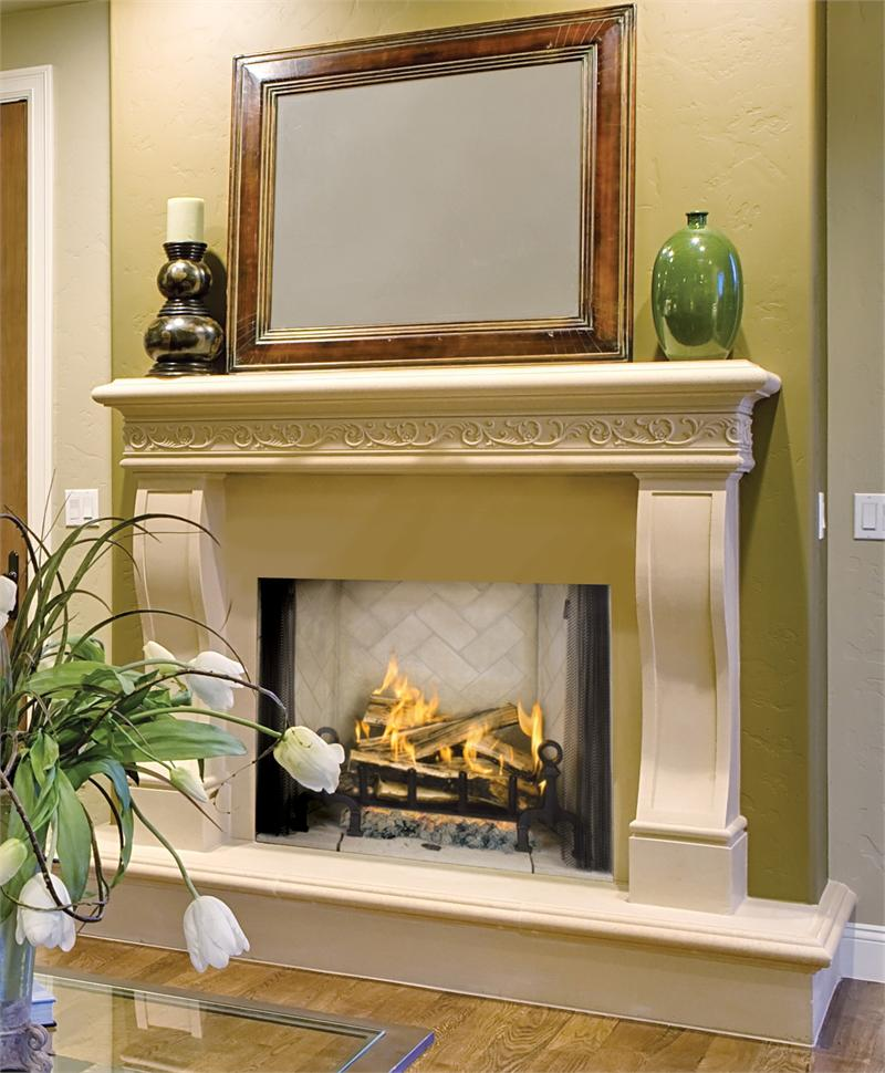 42 Wood Burning Custom Fireplace With 30 Tall Opening Wrt4542 Vg42