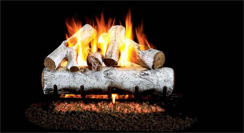 Wg46 30 Peterson Real Fyre White Birch Vented Gas Logs Set With G46 Series Burner