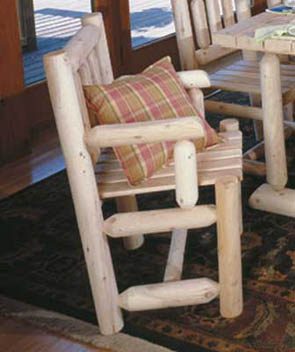 Captains Chair Rustic Cedar Furniture 010003C