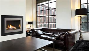 "Contemporary Direct Vent 40"" Complete Fireplace with Two Piece Facade DRC3035 DRC3000 Series"