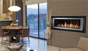 "Superior Linear Luxury Contemporary 54"" Direct Vent Gas Fireplace DRL6554"