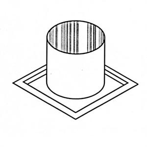 "FST10 12"" Wood Burning Firestop Thimble (For Offsetting Through a Joist)"