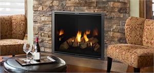 Marquis II Fireplace with Reflective Black Glass Interior