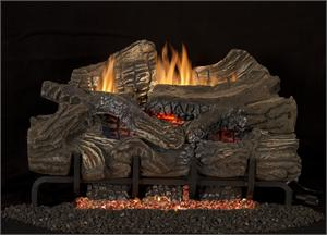 "LBG36-SM 36"" Smokey Mountain Oak Gas Log Set Blaze n"