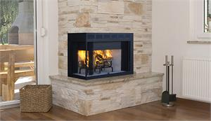 "Superior 36"" Corner Wood Burning Fireplace"