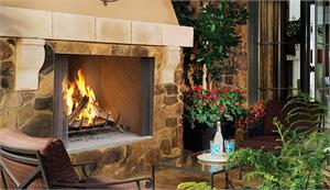 "Outdoor Wood Burning 50"" Fireplace by Superior WRE4550 WRE4500 F0446 F0448"