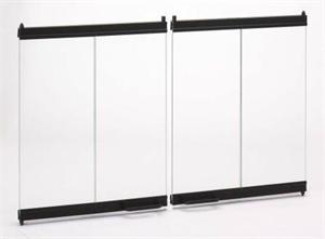 BDO42 Black Finish Trim Bi-Fold Glass Doors