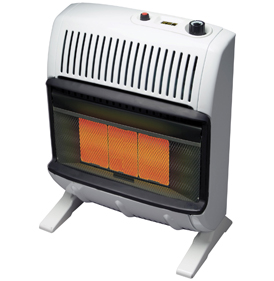 Vent-Free Gas Wall Heater Blue Flame