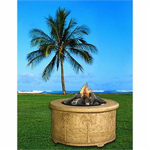 Palm Chat Height Multifunctional Gas Logs Fire Pit Table Without Granite