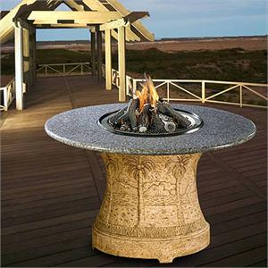 Palm Outdoor Dining Height Multifunctional Gas Logs Fire
