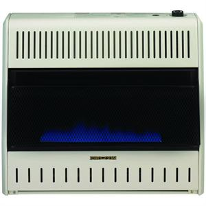 MD300TBABB 30,000 BTU ProCom Blue Flame Vent Free Dual Fuel Heater includes Blower and Floor Mount Base