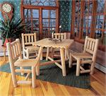 Dining Table Chair Group Set Rustic Cedar Furniture 1135
