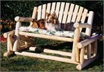 Swing, Gliders, Glider, Loveseat, Porch Swing, Rustic Cedar Log Furniture