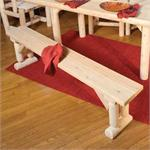 20D Dining Table Bench Rustic Natural White Cedar Furniture 20D